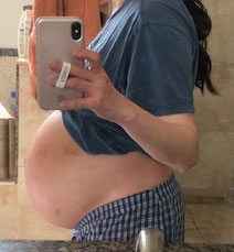 My stomach the day before I gave birth.