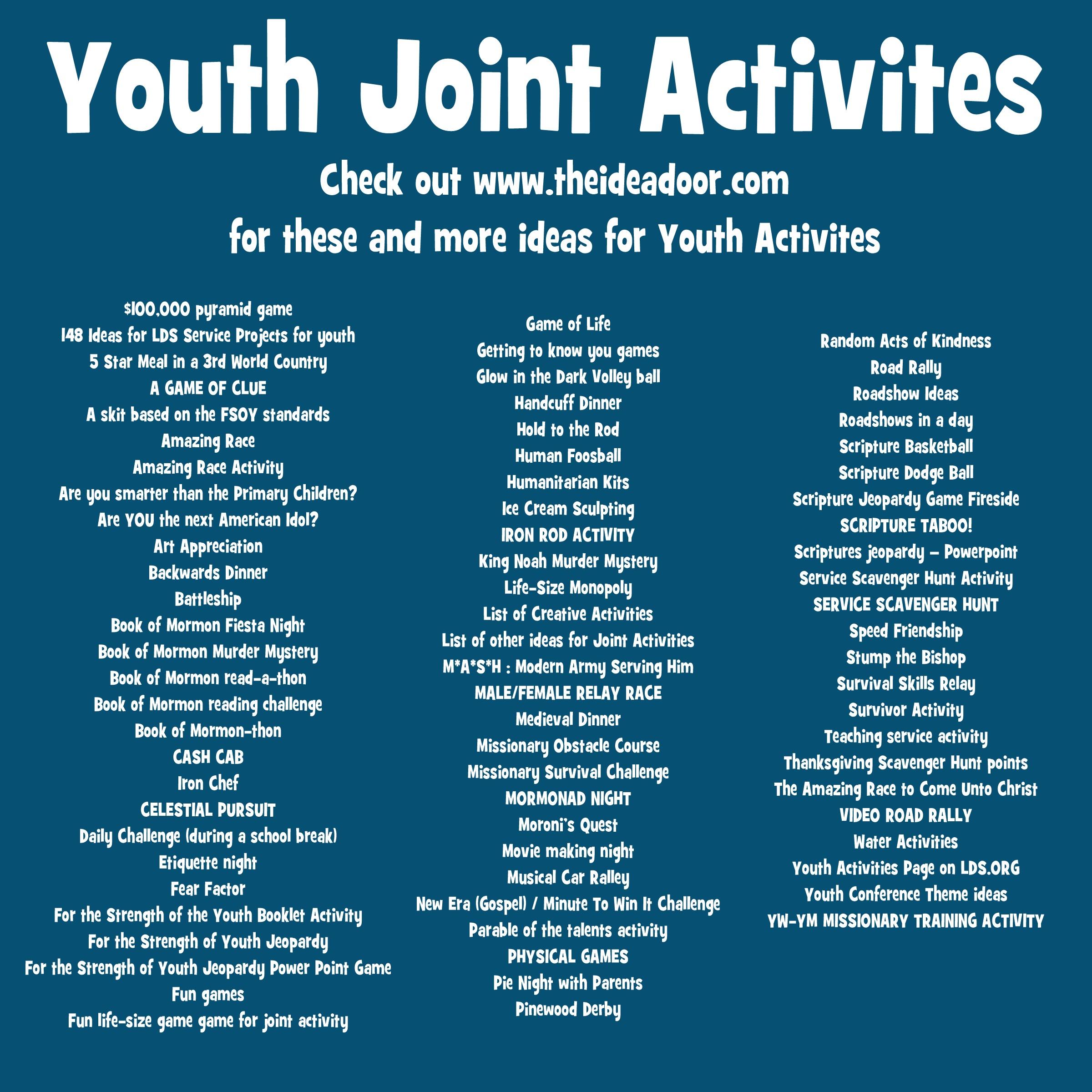 Youth Joint Activities The Idea Door