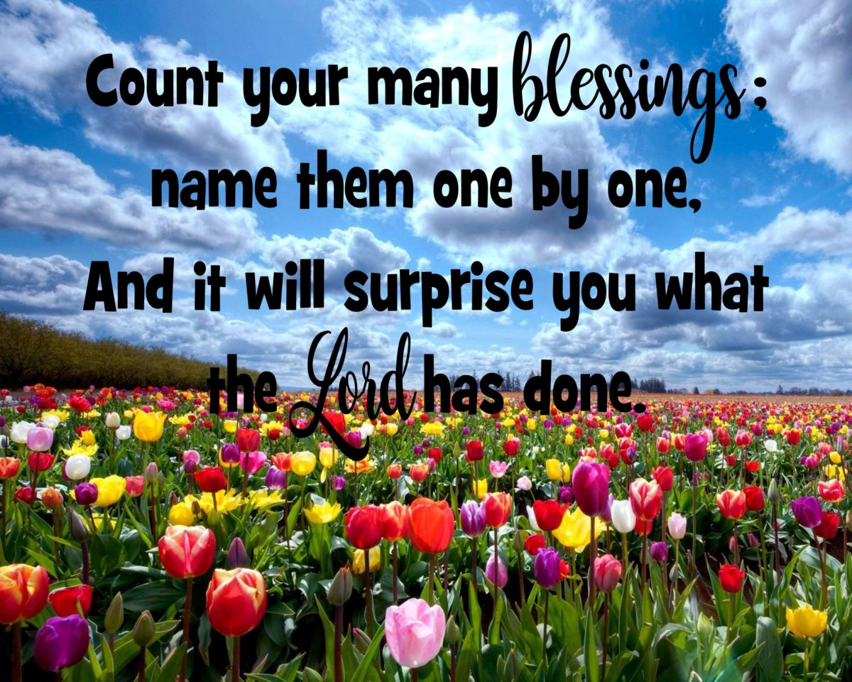 Count Your Many Blessings The Idea Door