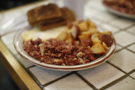 What is the connection between hashtag and corned beef hash? Nothing, except they're both awesome. By Ginny and John Woods [CC-BY-SA-2.0 (http://creativecommons.org/licenses/by-sa/2.0)], via Wikimedia Commons