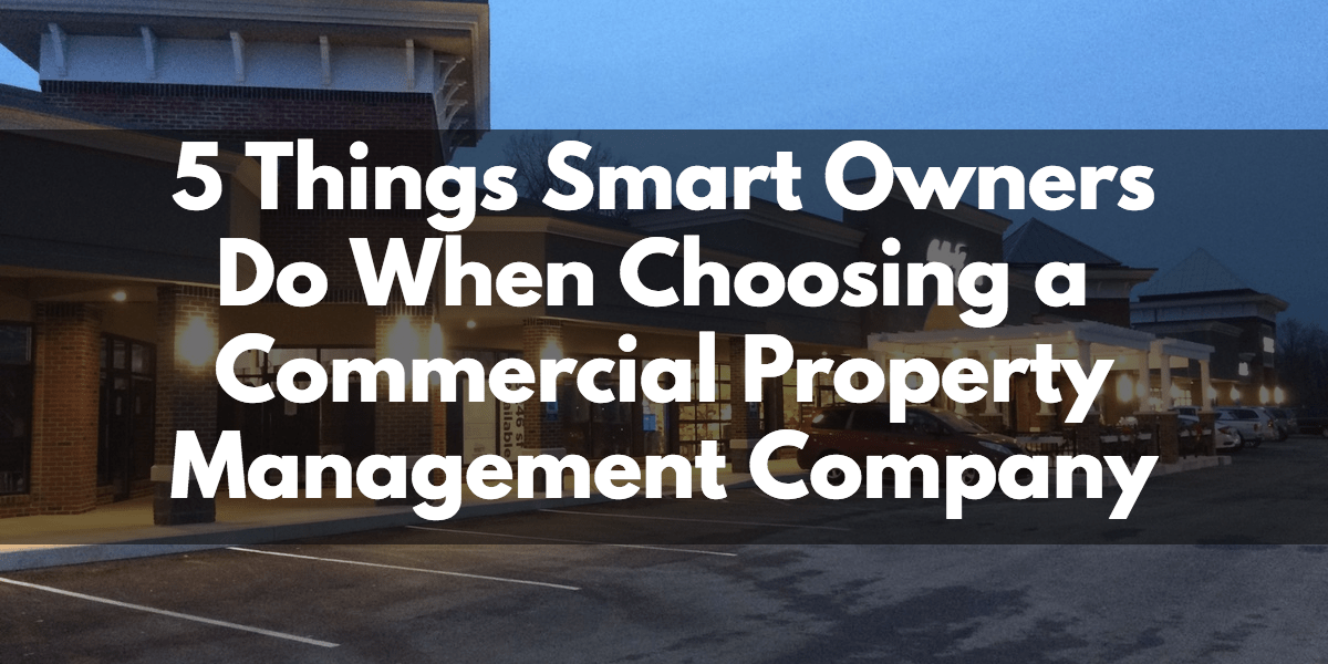 commercial property management company Albany