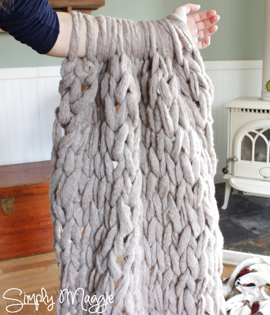 Arm Knit Blanket