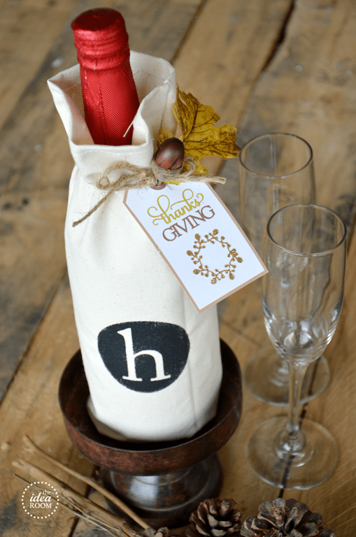 monogrammed bottle bag