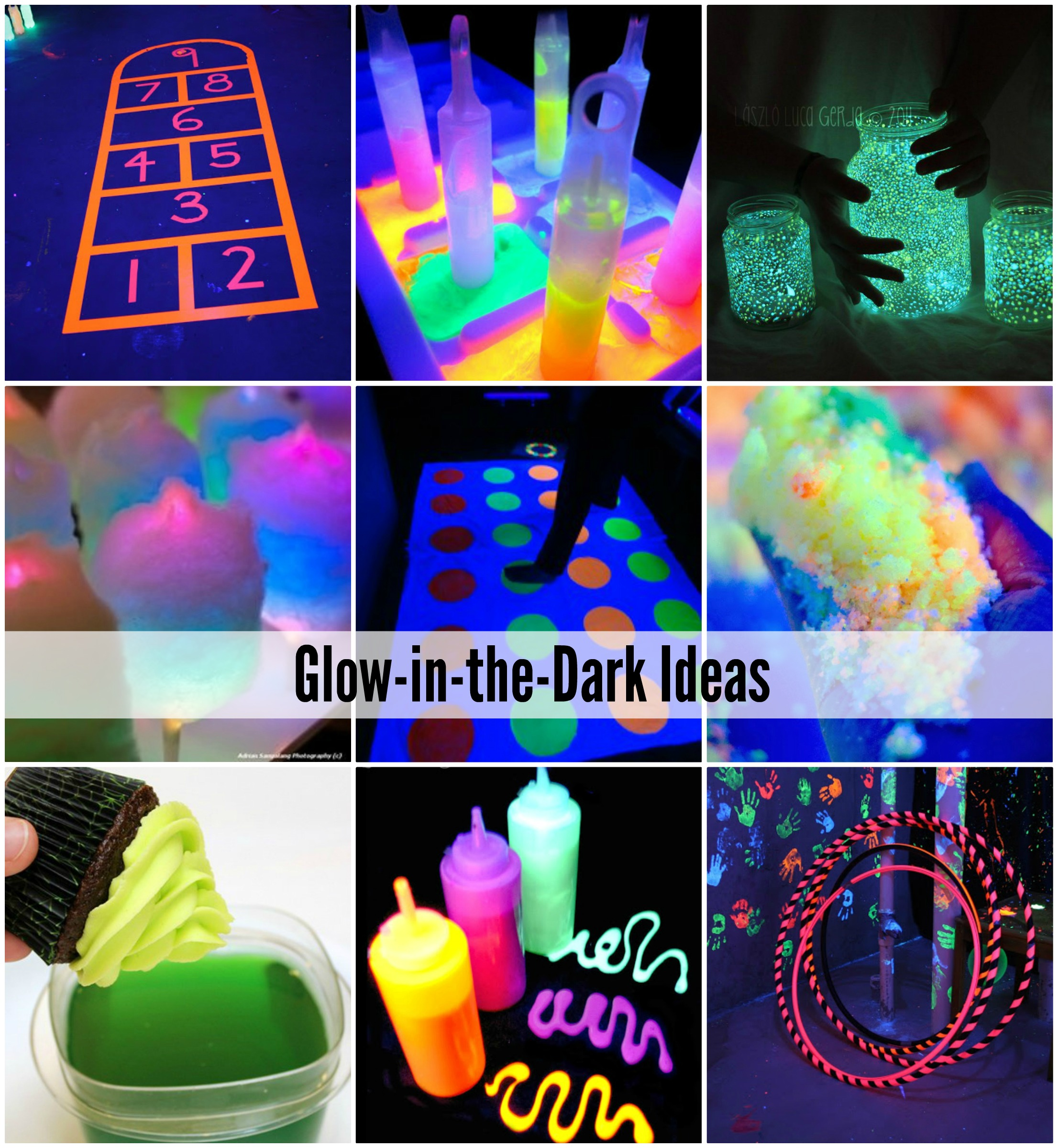 Glow In The Dark Games Activities And Food The Idea Room