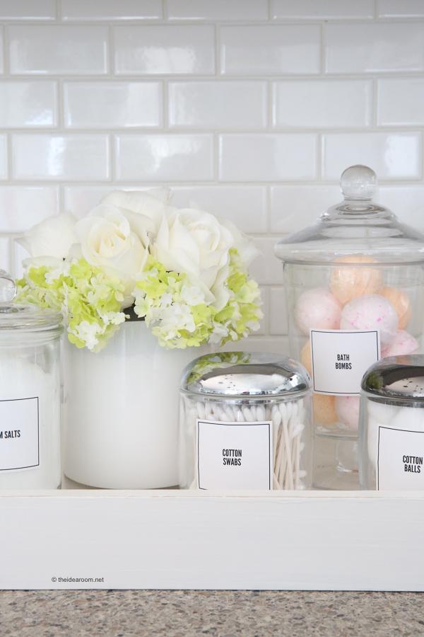 Bathroom Organization Labels The Idea Room