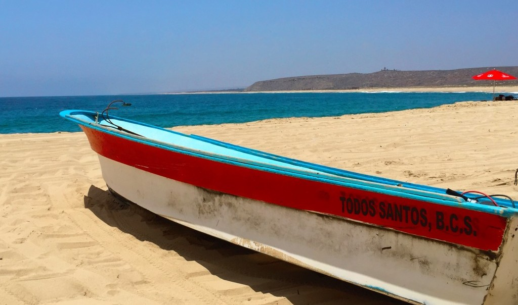 Boat on beach in Mexico