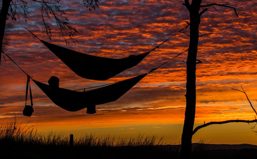 wellness travel, sleeping in hammocks