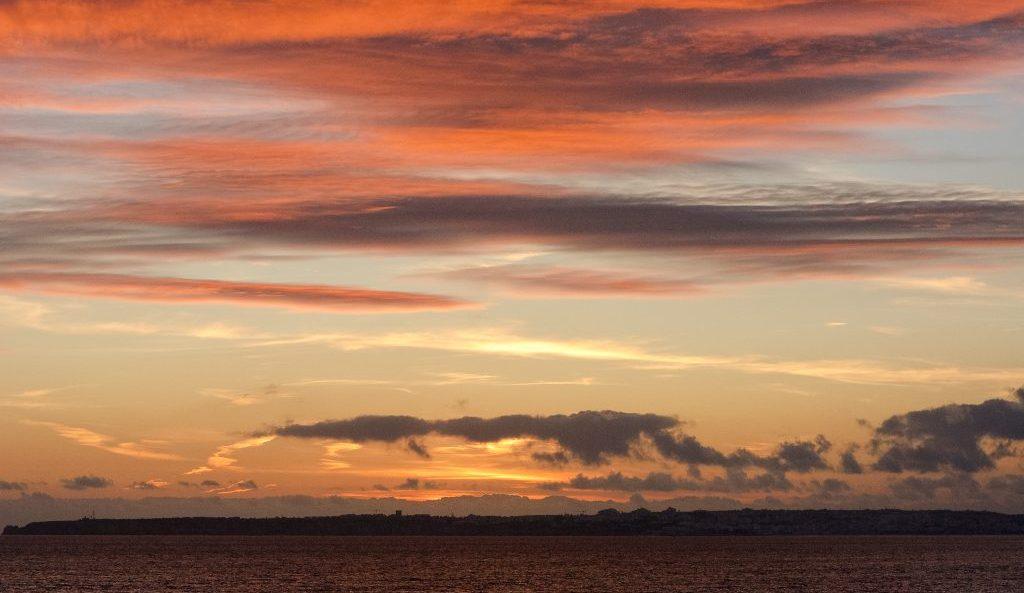 Alvor Beaches, Algarve in Portugal, sunset