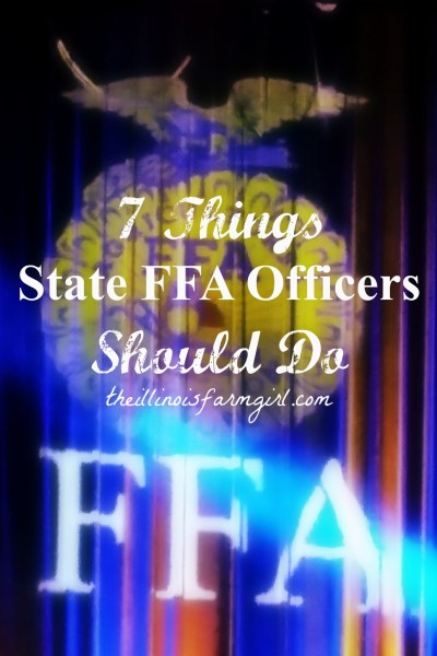 7 Things State FFA Officers Should Do