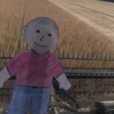 Flat Aggie visits Ohio Soybean Farm