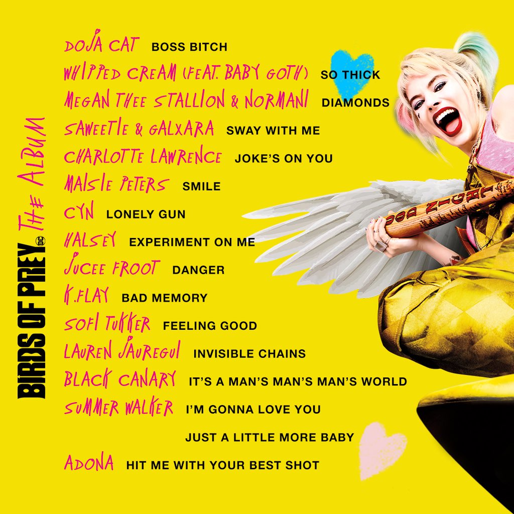 Birds of Prey Soundtrack List