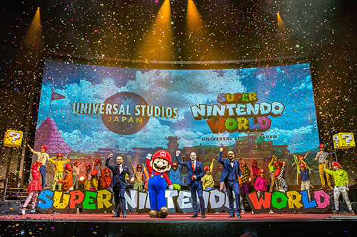 Super Nintendo World Mario Press Event