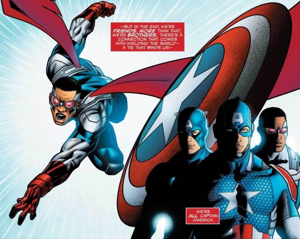 Captain America Falcon Marvel Comics Anthony Mackie
