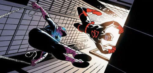 Daredevil and Spider-Man in Comics