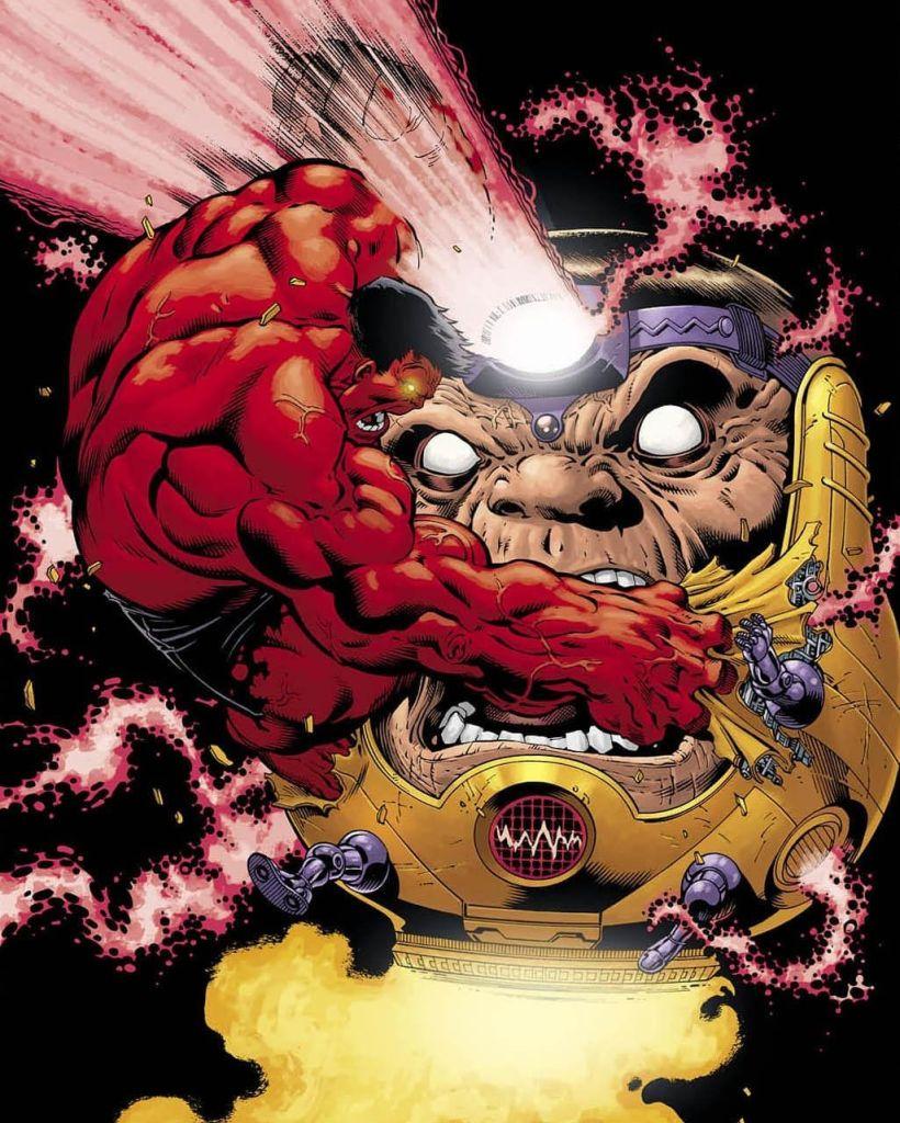 MODOK vs Red Hulk