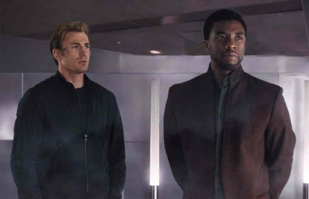 Captain America Civil War Chris Evans Chadwick Boseman T'Challa Black Panther