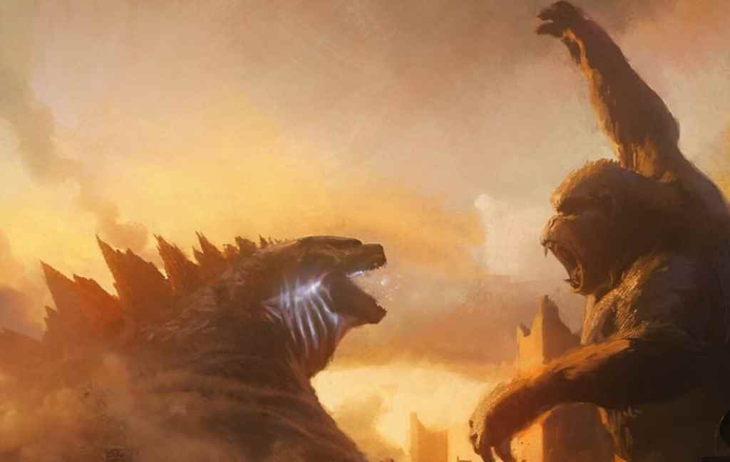 Godzilla vs Kong concept art Super Power Beat Down