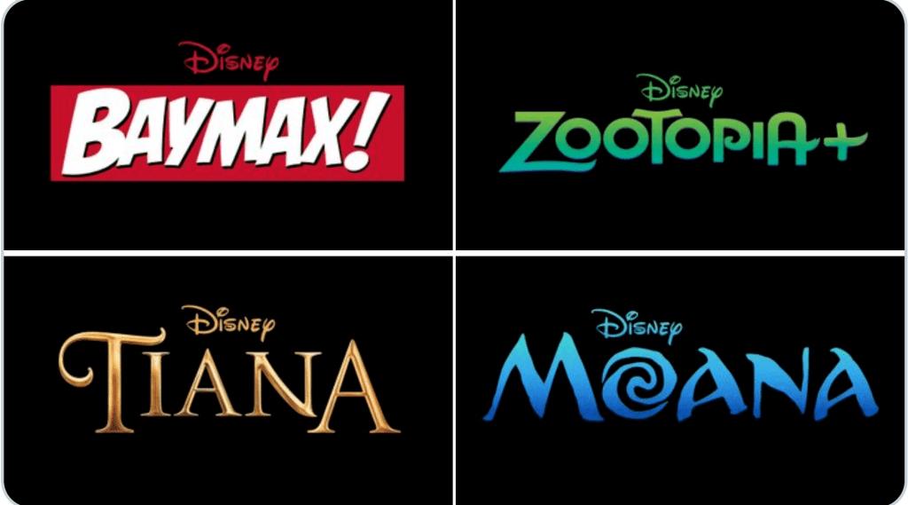 Moana Tiana Zootopia Baymax Disney Plus