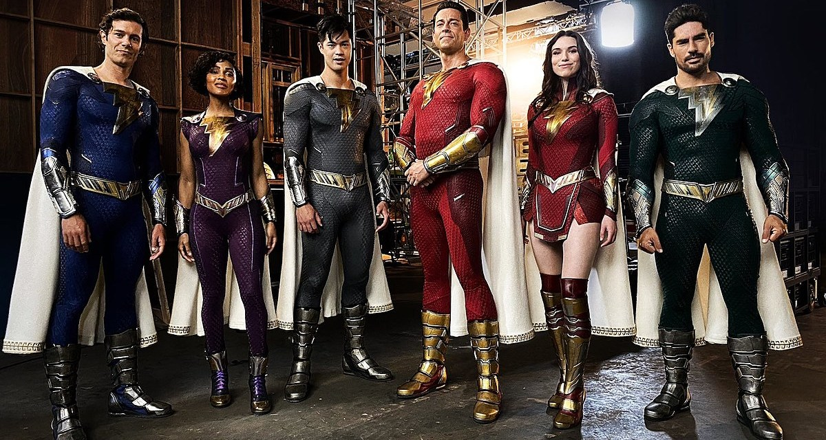 Get Your 1st Look At New Shazam: Fury Of The Gods costumes from Director David F. Sandberg