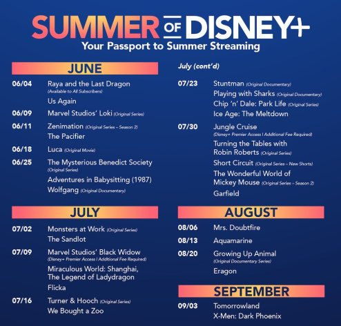 summer of disney+ passport