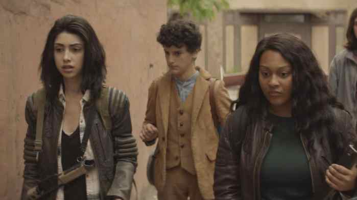 the walking dead world beyond - aliyah royale & family