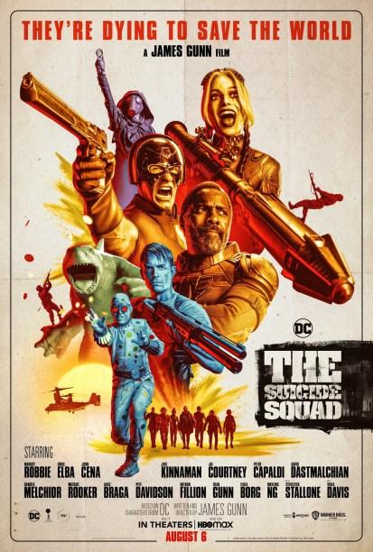 The Suicide Squad poster James Gunn King Shark Harley Quinn