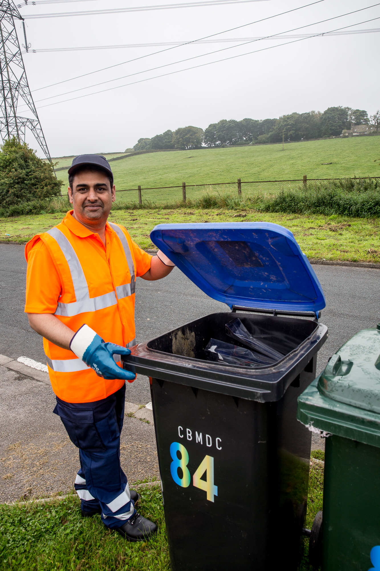 Councillors on the bins