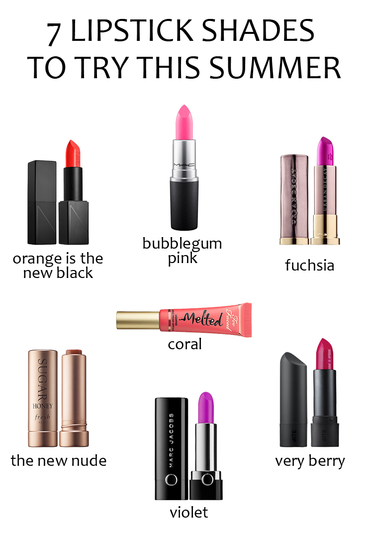 7 Lipstick Shades to try this Summer