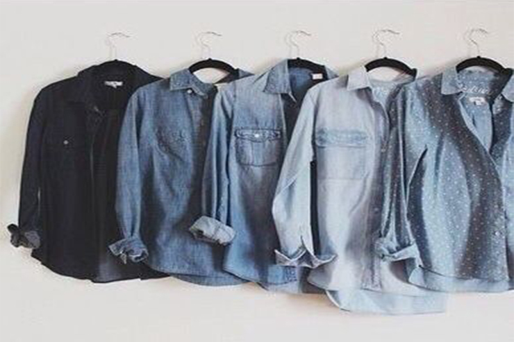 Hanging Chambray Shirts