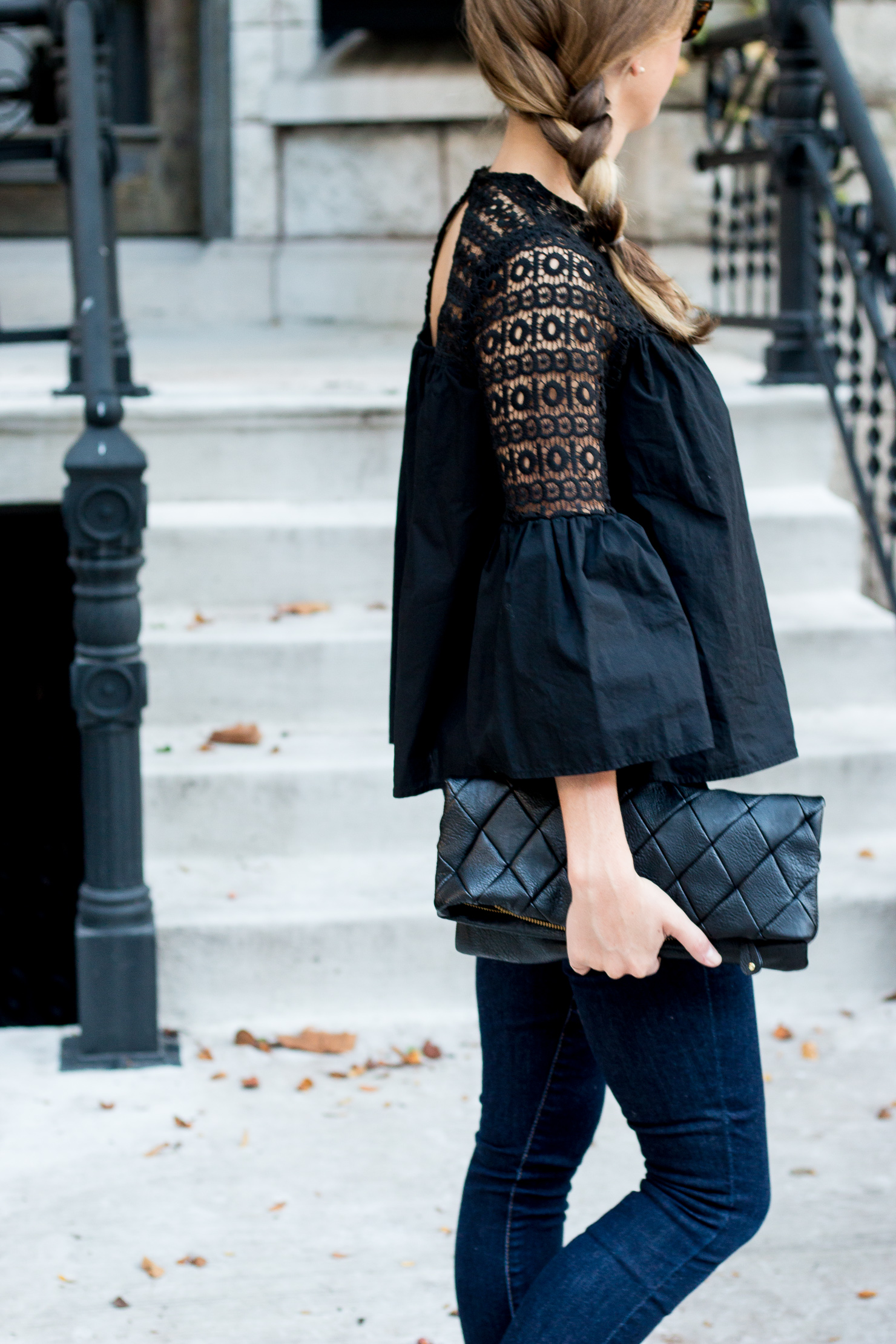 black flare sleeve