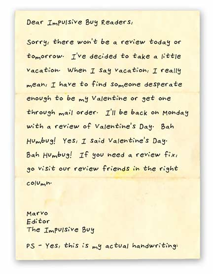 Vacation Letter
