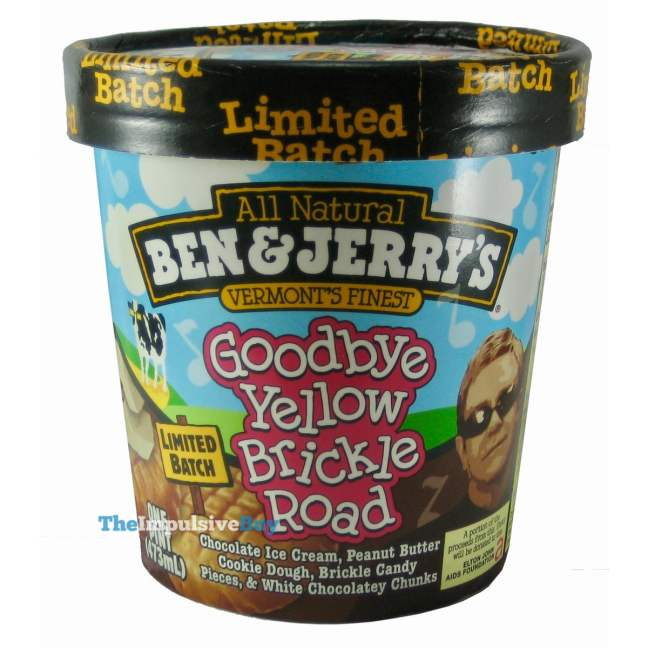 Ben & Jerry's Limited Batch Goodbye Yellow Brickle Road