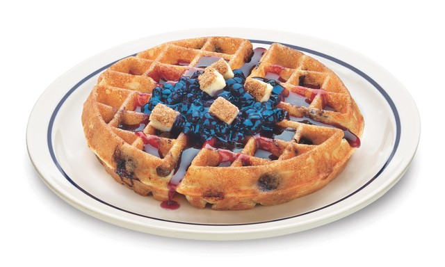 IHOP Very Blueberry Cheesecake Waffullicious Waffles