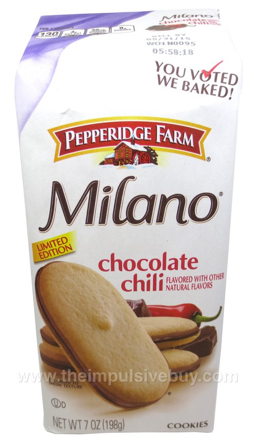 Pepperidge Farm Limited Edition Chocolate Chili Milano Cookies