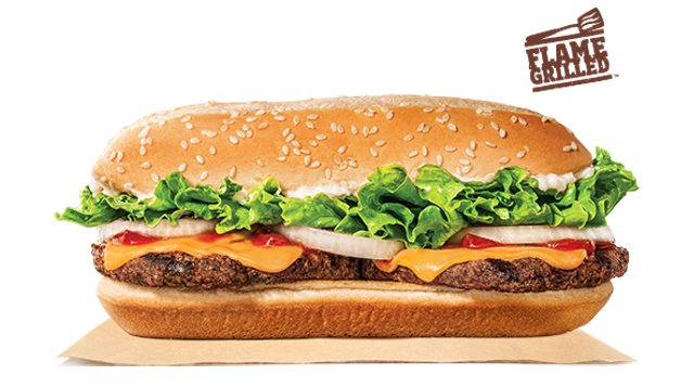 Burger King Extra Long Cheeseburger