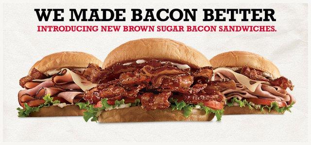 Arby s Brown Sugar Bacon Sandwiches