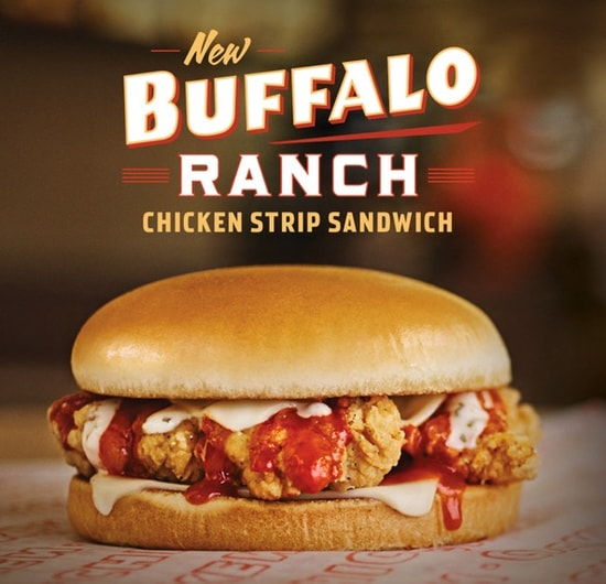 Whataburger Buffalo Ranch Chicken Strip Sandwich