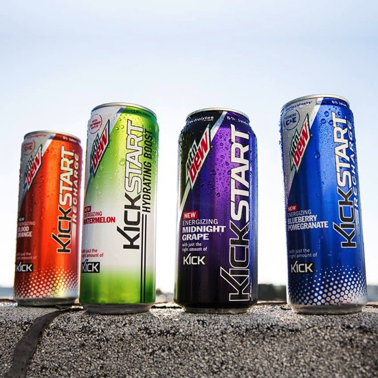 New Mountain Dew Kickstart Flavors