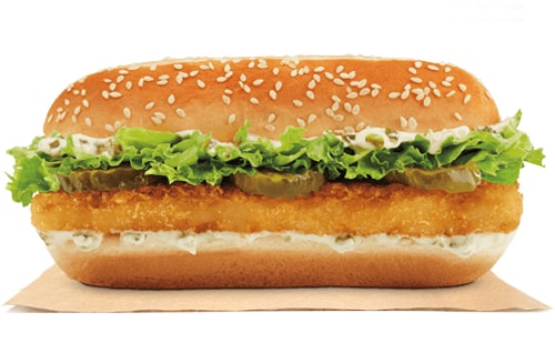 Fast food news burger king extra long fish sandwich the for Burger king big fish