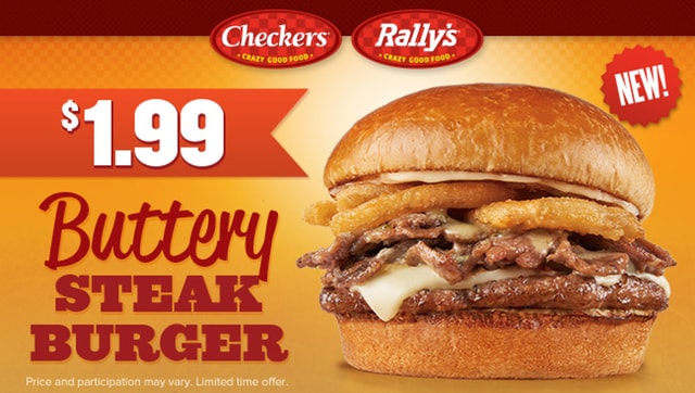 Checkers Rally s Buttery Steak Burger
