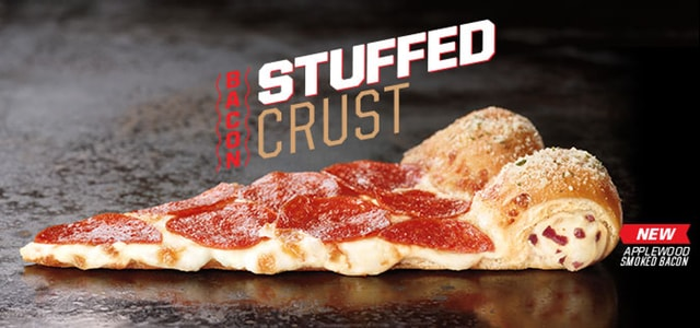 Pizza Hut Applewood Smoked Bacon Stuffed Crust Pizza