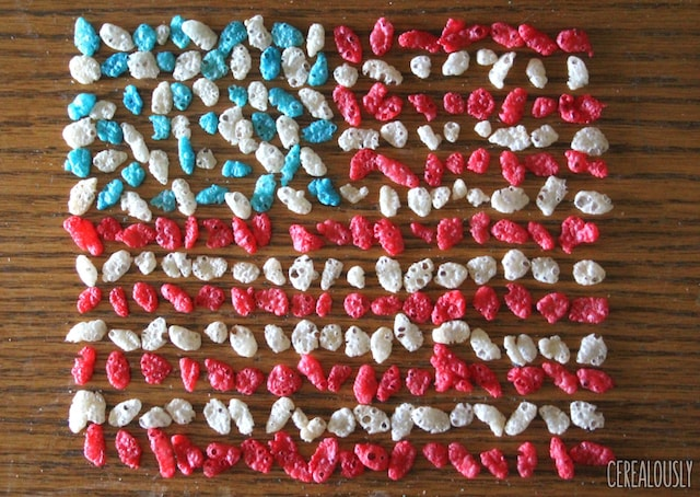 Red white blue rice krispies flag 1024x726