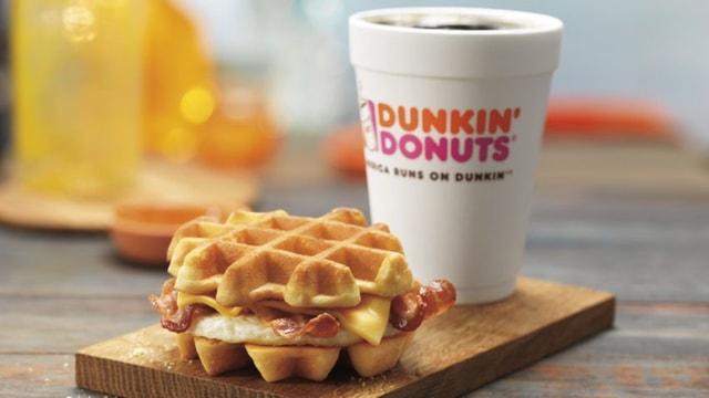 Dunkin Donuts Belgian Waffle Breakfast Sandwich