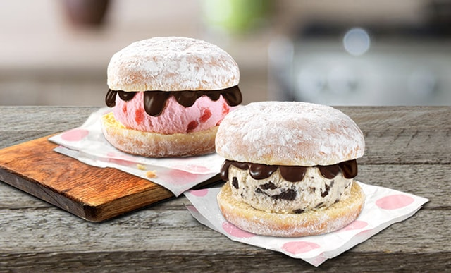 Baskin Robbins Donut Ice Cream Sandwiches