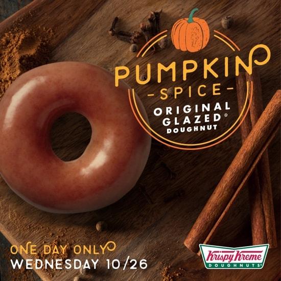 Krispy Kreme Pumpkin Spice Original Glazed Doughnut