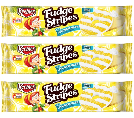 Keebler Limited Batch Lemon Cream Pie Fudge Stripes Cookies