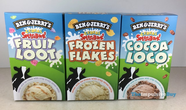 Ben  Jerry s Cereal Splashback Ice Cream
