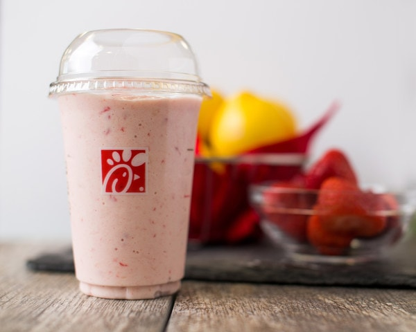 Chick fil A Frosted Strawberry Lemonade