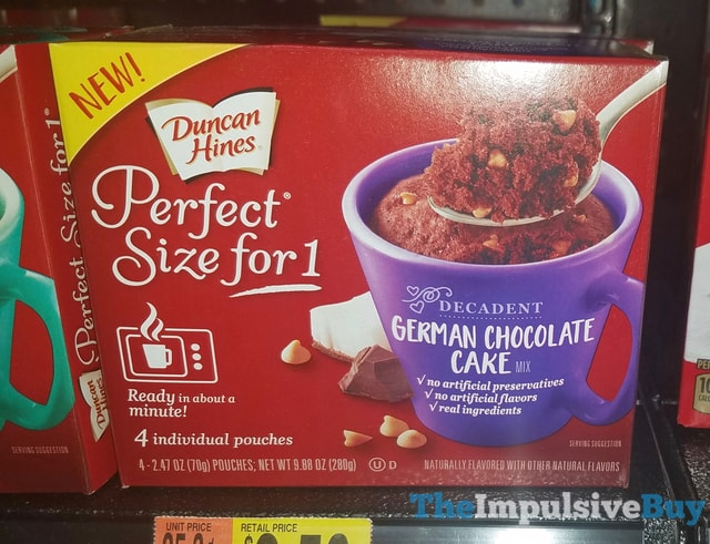 Duncan Hines Perfect Size for 1 Decadent German Chocolate Cake Mix
