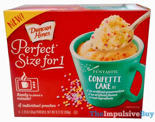 Duncan Hines Perfect Size for 1 Funtastic Confetti Cake Mix
